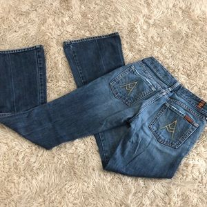 7 for all mankind blue flares nwot